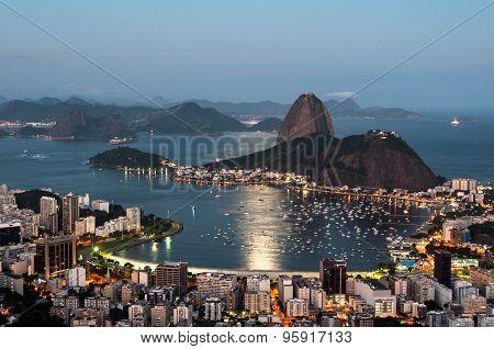 Rio de Janeiro, Sugarloaf Mountain by Sunset