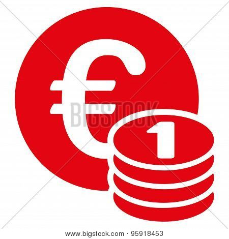 One euro coin stack icon from BiColor Euro Banking Set