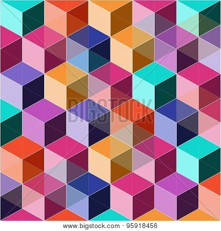 Colorful dimensional background