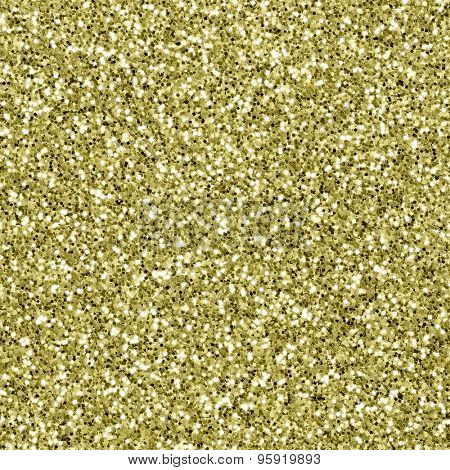 Gold glitter background. Seamless texture