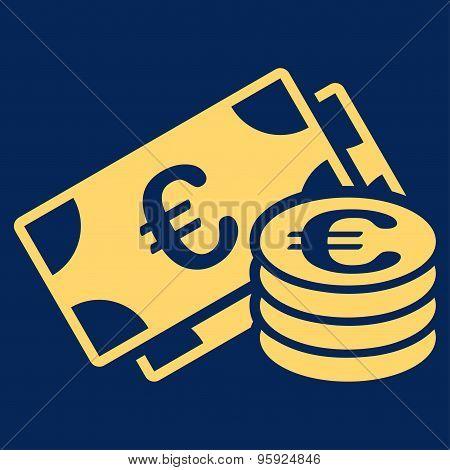 Euro cash icon from BiColor Euro Banking Set