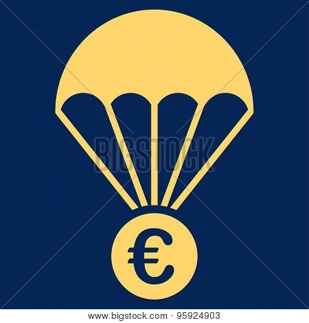 Papachute icon from BiColor Euro Banking Set