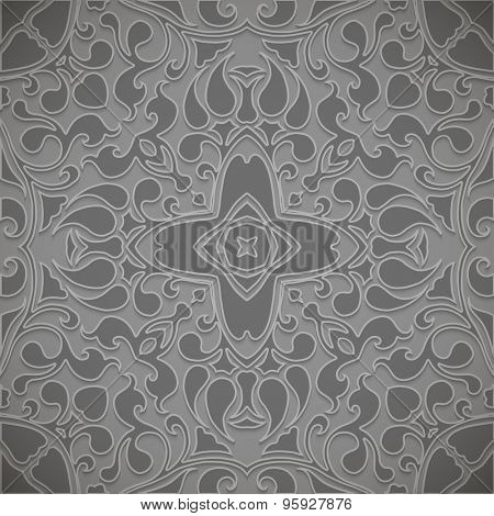 Ornamental vector pattern for background.