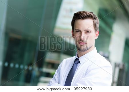 Caucasian young businessman