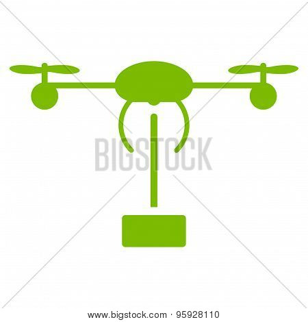 Copter shipment icon from Business Bicolor Set