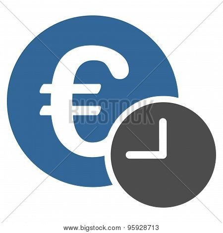 Euro credit icon from Business Bicolor Set