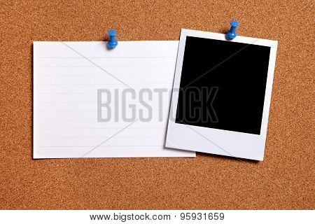 Blank Photo With Index Card