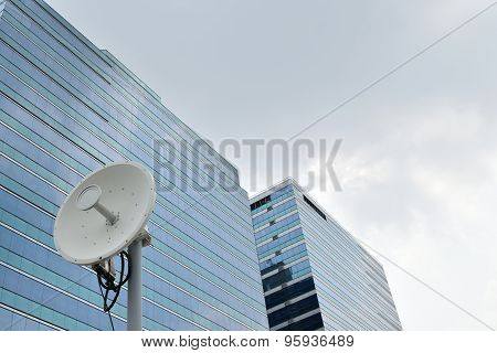 Satellite Dish And Building