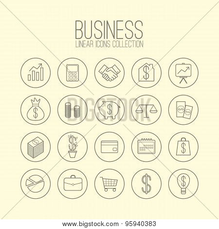 Business Linear Icons