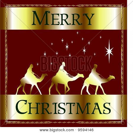 Merry Christmas Red Wisemen