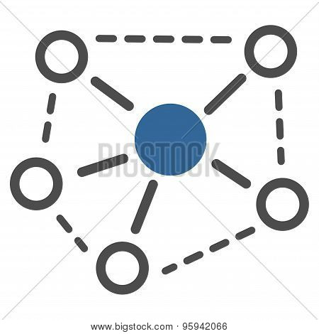 Molecule Links icon from Business Bicolor Set