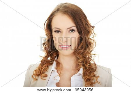 Beautiful toothy smiling confident businesswoman.