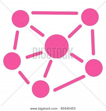 Social Graph icon from Business Bicolor Set