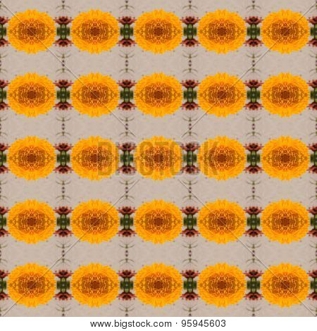 Calendula Yellow Flowers Seamless