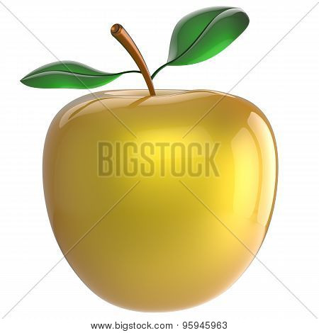 Apple Yellow Nutrition Fruit Antioxidant Fresh Ripe Exotic Food