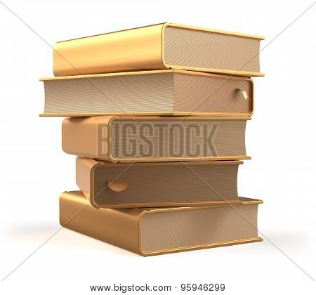 Books Golden Textbook Stack Yellow Gold Blank Bookmarks