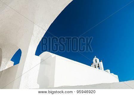 White Architecture On Santorini Island, Greece