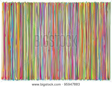 Liquid Organic Multiple Color Lines Pattern Over White