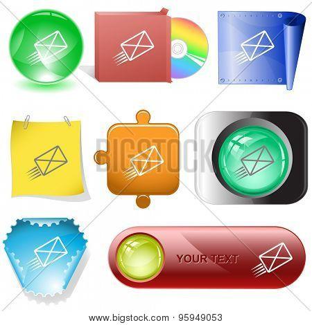 send mail. Vector internet buttons.