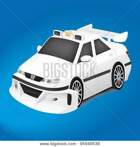 White Sports Car Taxi