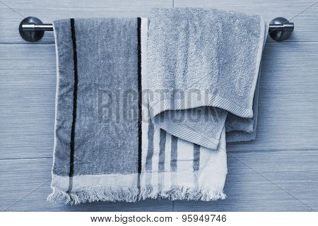 fluffy new towels in the bathroom