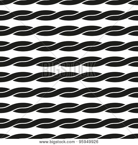 Seamless Pattern. Interlacing Geometric Ornament. Abstract Background