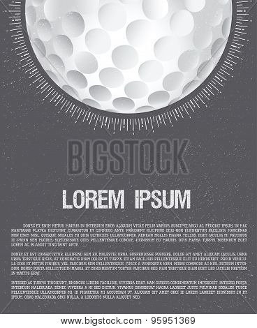 Golf Club Or Golf Course Grunge Flyer Design Template. Banner For Invitation.