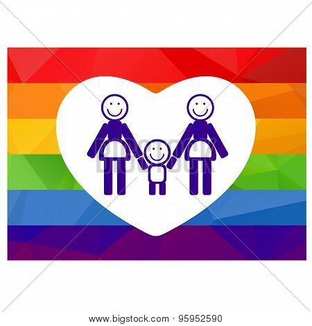 Lesbian Family Symbol