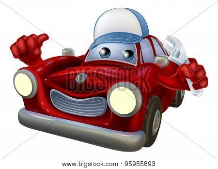 Car Mechanic Cartoon Character
