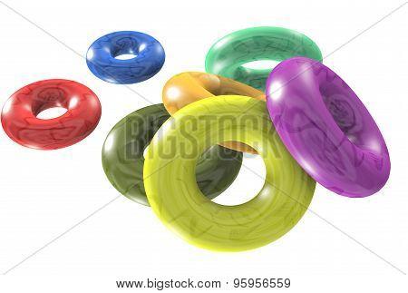 swim rings 3D