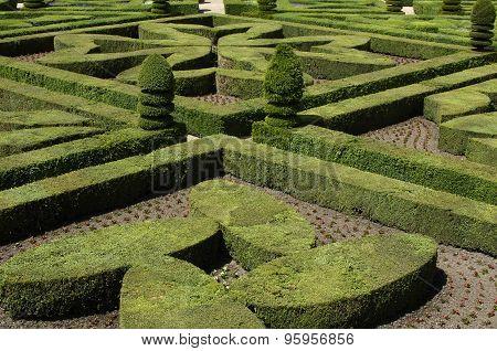 French Formal Garden Of Villandry Castel