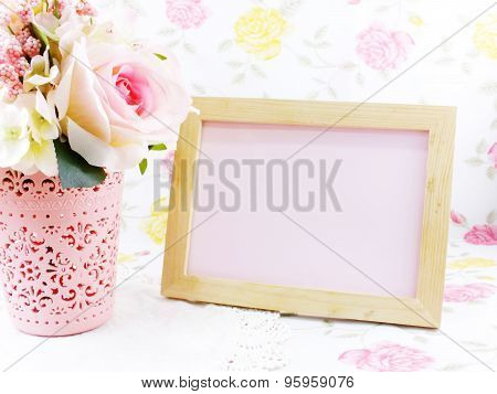 Beautiful Flower Decoration And Free Space For Space For Writing