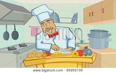 Cook in the kitchen