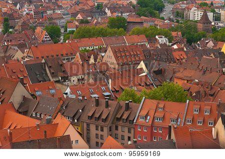 Orange Roofs in Nuremberg.