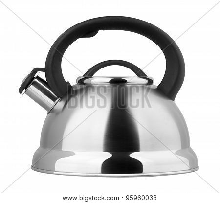 Kettle With Whistle On A White Background