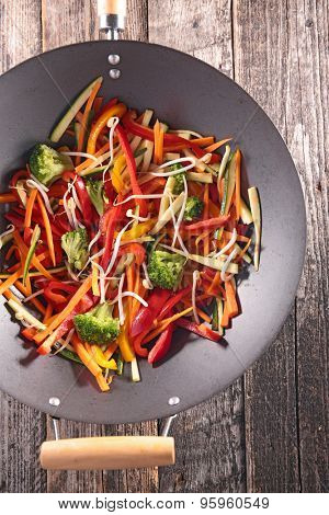 vegetable cooked with wok