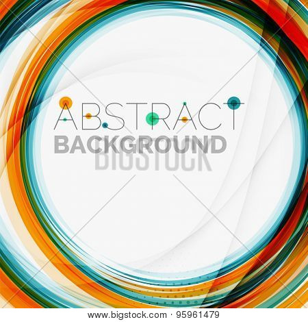 Blue and orange color line abstract background. Modern wave template