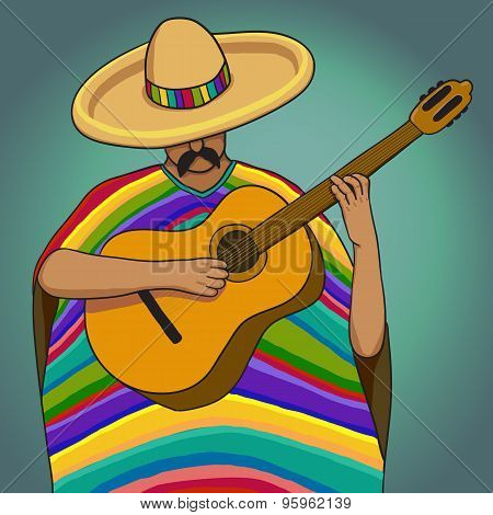 Mexican Guy Playing Guitar