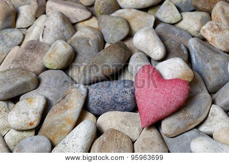 Heart Surrounded By Stones