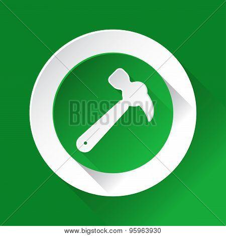 Green Circle Shiny Icon - Claw Hammer