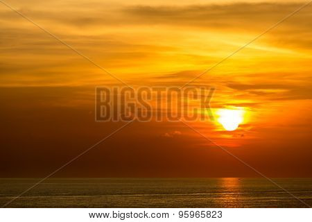 Beautiful Sunset at Andaman sea Krabi Phuket Thailand