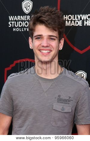 LOS ANGELES - JUL 14:  Brandon Tyler Russell at the Warner Bros. Studio Tour Hollywood Expansion Official Unveiling at the Warner Brothers Studio on July 14, 2015 in Burbank, CA