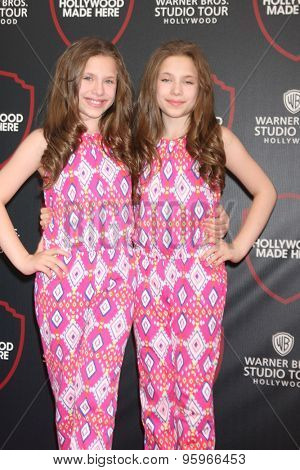 LOS ANGELES - JUL 14:  Bianca D'Ambrosio, Chiara D'Ambrosio at the Warner Bros. Studio Tour Hollywood Expansion Official Unveiling at the Warner Brothers Studio on July 14, 2015 in Burbank, CA