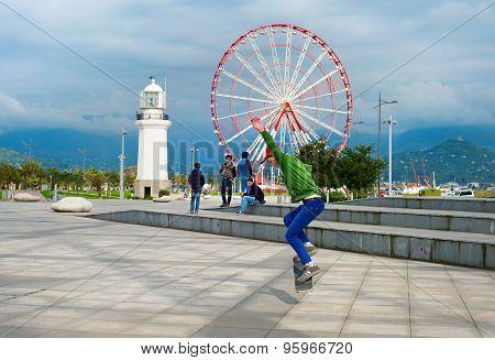Skateboarder, Batumi, Georgia