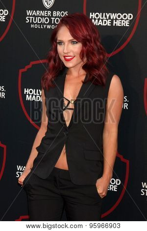 LOS ANGELES - JUL 14:  Sharna Burgess at the Warner Bros. Studio Tour Hollywood Expansion Official Unveiling, Stage 48: Script To Screen at the Warner Brothers Studio on July 14, 2015 in Burbank, CA