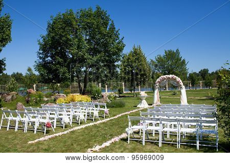 Beautiful Wedding ceremony decoration.