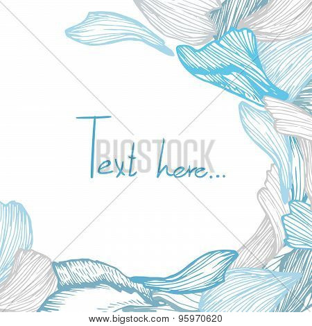 Hand Drawn Vector Illustration - Rose Petals.