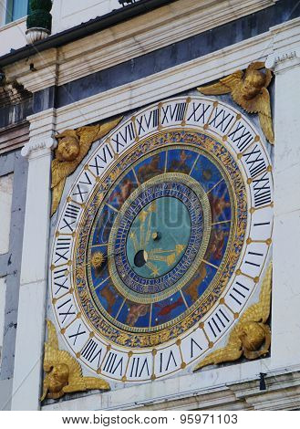 Detail of a historical  astronomical clock