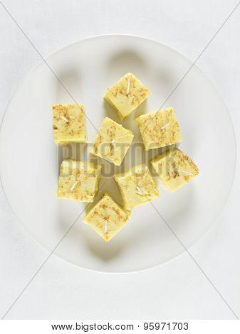 White Dish Tapas Spanish Omelette
