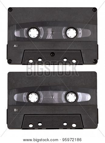 audio cassette isolated on white background, vector